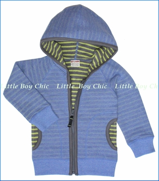 Bit'z Kids, Stripe Fleece Lined Zip Hoodie