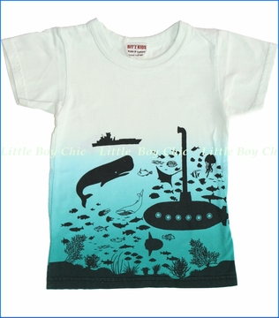 Bit'z Kids, Submarine Tee in Off White (c)