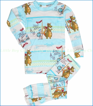 Books To Bed, Knight and the Dragon Pajama in Stripe