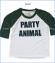 Chaser, Party Animal Raglan T-Shirt in White