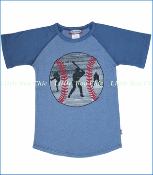 City Threads, Baseball Scenes Tee in Smurf (c)