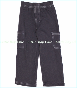 City Threads, Fleece Pocket Pants in Charcoal
