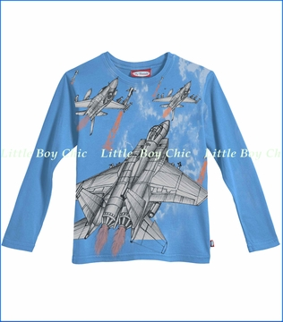 City Threads, Jet Fighter Tee in Sea