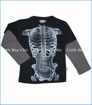 City Threads, Skeleton Guitar 2fer in Black (c)