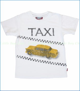 City Threads, Taxi Tee in White (c)