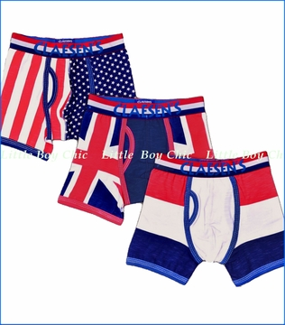 Claesen's, Red White Blue Boxer Briefs 3-Pack (c)