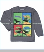 Dx-Xtreme, Four Faces of Ninja Turtles Tee in Rock (c)