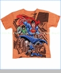 Dx-xtreme, Justice League Tee in Orange (c)