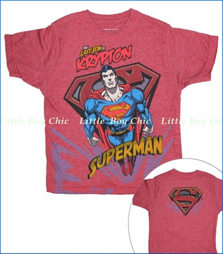 Dx-Xtreme, Superman Son of Krypton Tee in Heather Red (c)