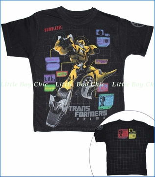 Dx-Xtreme, Transformers Bumblebee Tee in Heather Black (c)