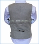 Fore!! , Charcoal Brush Flannel Vest in Grey