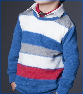 Fore!!, Color Block Pullover Sweater (c)