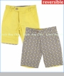 Fore!!, Fish Reversible Shorts in Yellow