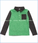 Fore!!, Melange & Stripe Knit Polo in Green (c)