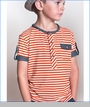 Fore!!, Orange Striped Henley (c)