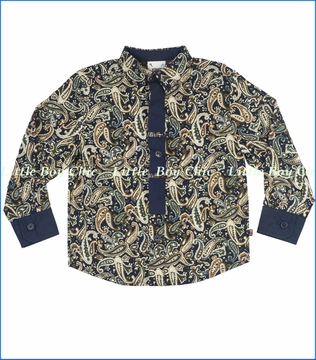 Fore!!, Paisley Buttoned Shirt with Tie