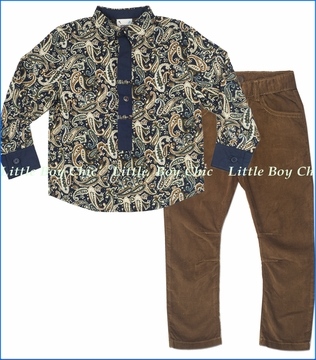 Fore!!, Paisley Shirt with Tan Corduroy Pants
