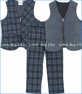 Fore!!, Reversible Plaid Vest with Pants