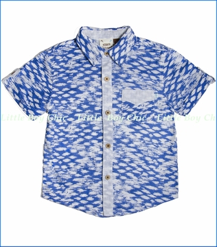 Fore!!, Rolled Cuff Clouds Buttoned Shirt (c)