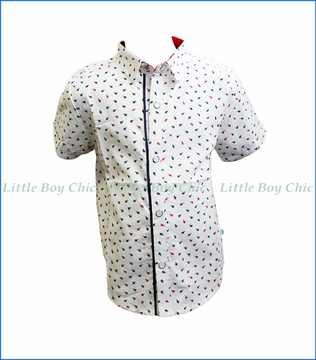 Fore!! , S/S Ants Print Shirt in White