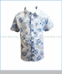 Fore!! , S/S Leaf Print Shirt in White