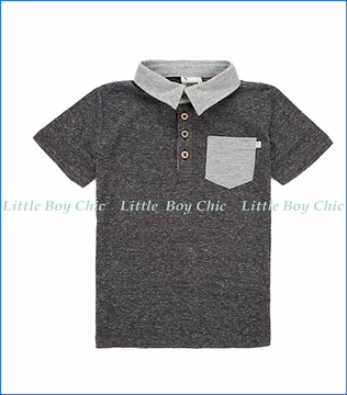 Fore!! , S/S Slub Polo Shirt in Grey