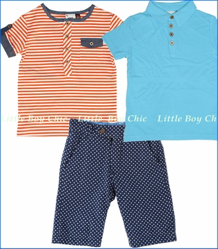 Fore!!, Striped Henley and Swing Polo with Reversible Board Shorts