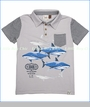 Fore!!, The Shark Polo in Vapor Grey (c)