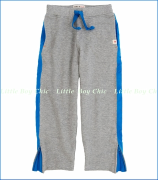 Hatley, Athletic Melange Track Pants with Blue Trim