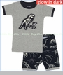 "Hatley, Dino Bones ""PJ Rex"" Glow in The Dark Pajama Set (c)"