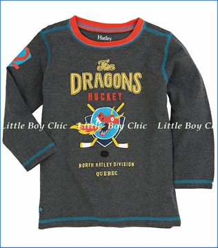 Hatley, Dragon Hockey Tee in Charcoal