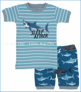 Hatley, Lots of Sharks Sleep Attack PJ Set (c)