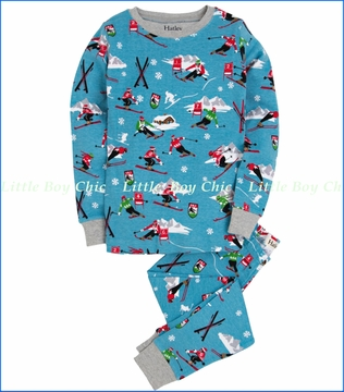 Hatley, Retro Ski Allover Pajama in Blue