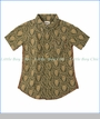 Hatley, S/S Lion Print Dress Shirt in Green
