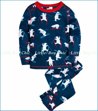 Hatley, Skiing Polar Bears Thermal Underwear Set