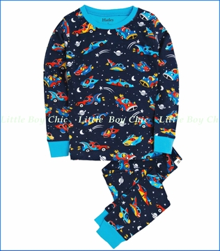 Hatley, Space Cars Allover Pajama in Blue