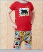 "Hatley, Wilderness Stamps ""Bearly Sleeping"" Appliqued Pajama Set (c)"