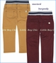 Hoonana, Twill Pants in Mustard and Burgundy