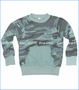 Joah Love, Breck Camo Sweat Shirt in Pale Turquoise (c)