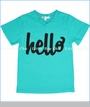 Joah Love, Conner Hello Tee in Aqua (c)
