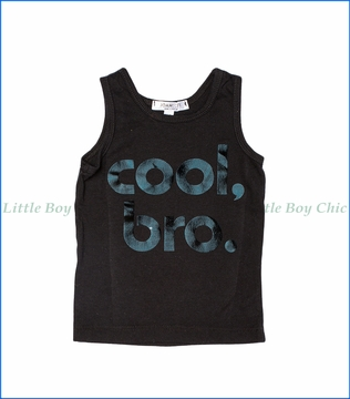 Joah Love, Cool Bro Print Tank Top in Black