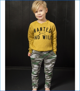 Joah Love, Parker Quilted Sweatshirt with Sid Camo Pant