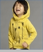 Joah Love, Terry Arrow Hooded Tee in Golden (c)
