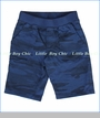 Joah Love, Wade Camo French Terry Shorts in Duke Blue (c)
