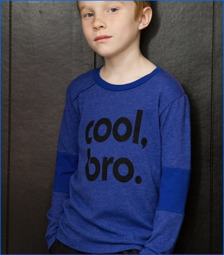 Joah Love, Zane Cool Bro Tee in Ultra Marine