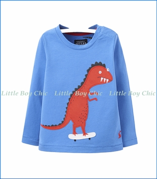 Joules, Dino Skate Jersey T-Shirt in Blue
