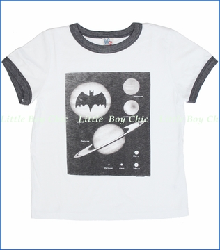 Junk Food, Bat Signal Tee in Electric White (c)