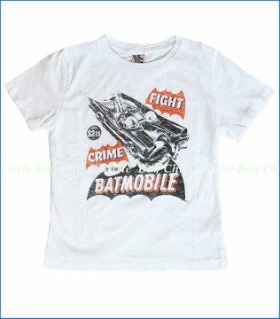 Junk Food, Batmobile Tee in Electric White (c)
