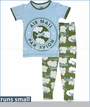 Kickee Pants, Airplane Pajama Set in Moss (c)
