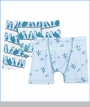 Kickee Pants, Boxer Briefs Set in Pond Snow & Snowy Owls